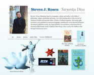 Author website screenshot
