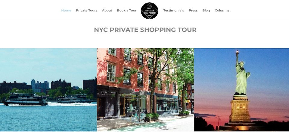 NYC Private Shopping Tour Website by Amalam Media