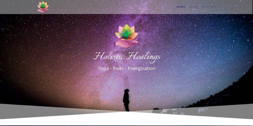 Yoga Reiki Energization Website Sample by Amalam Media