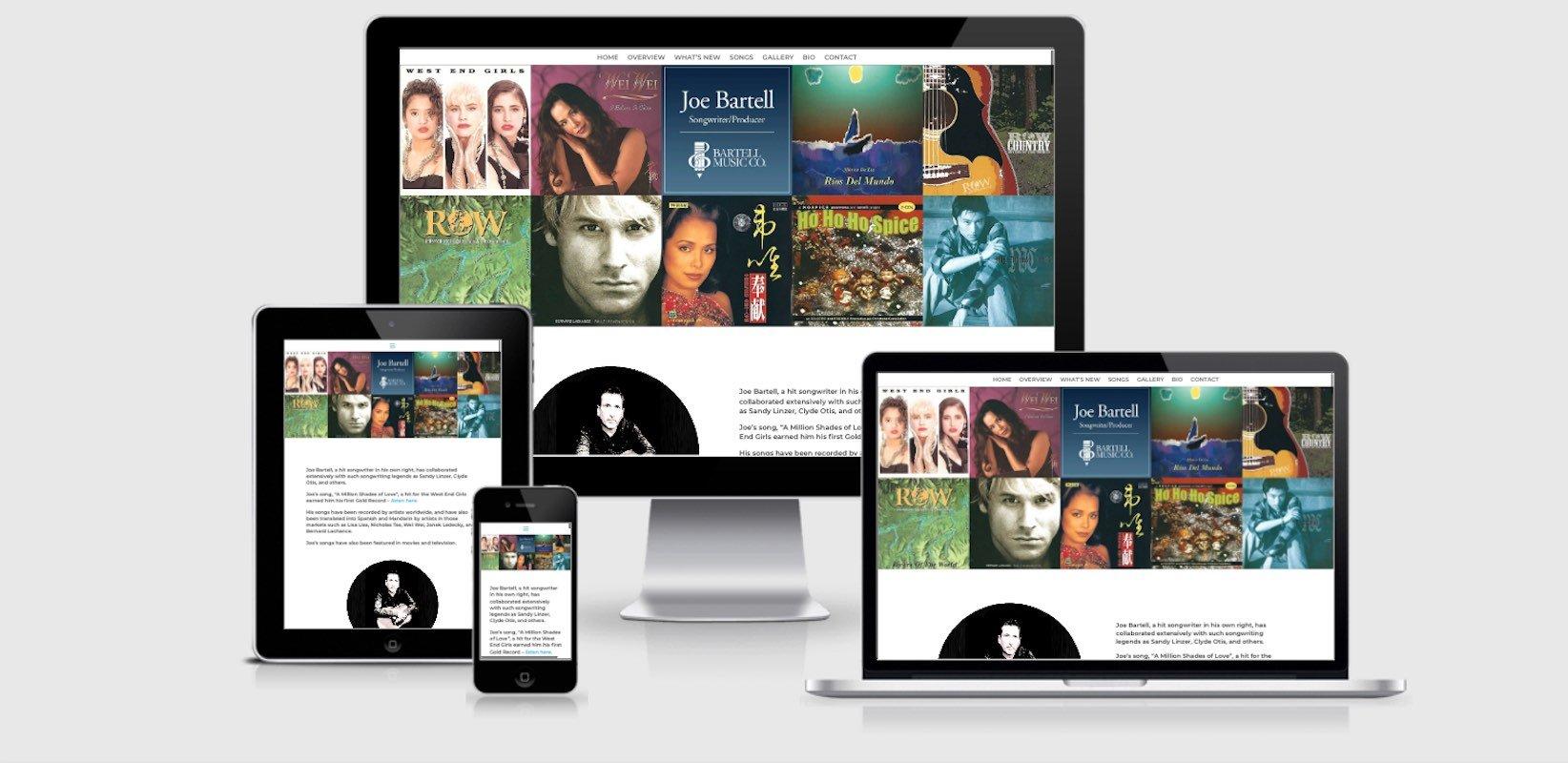 Joe Bartell Website by Amalam Media